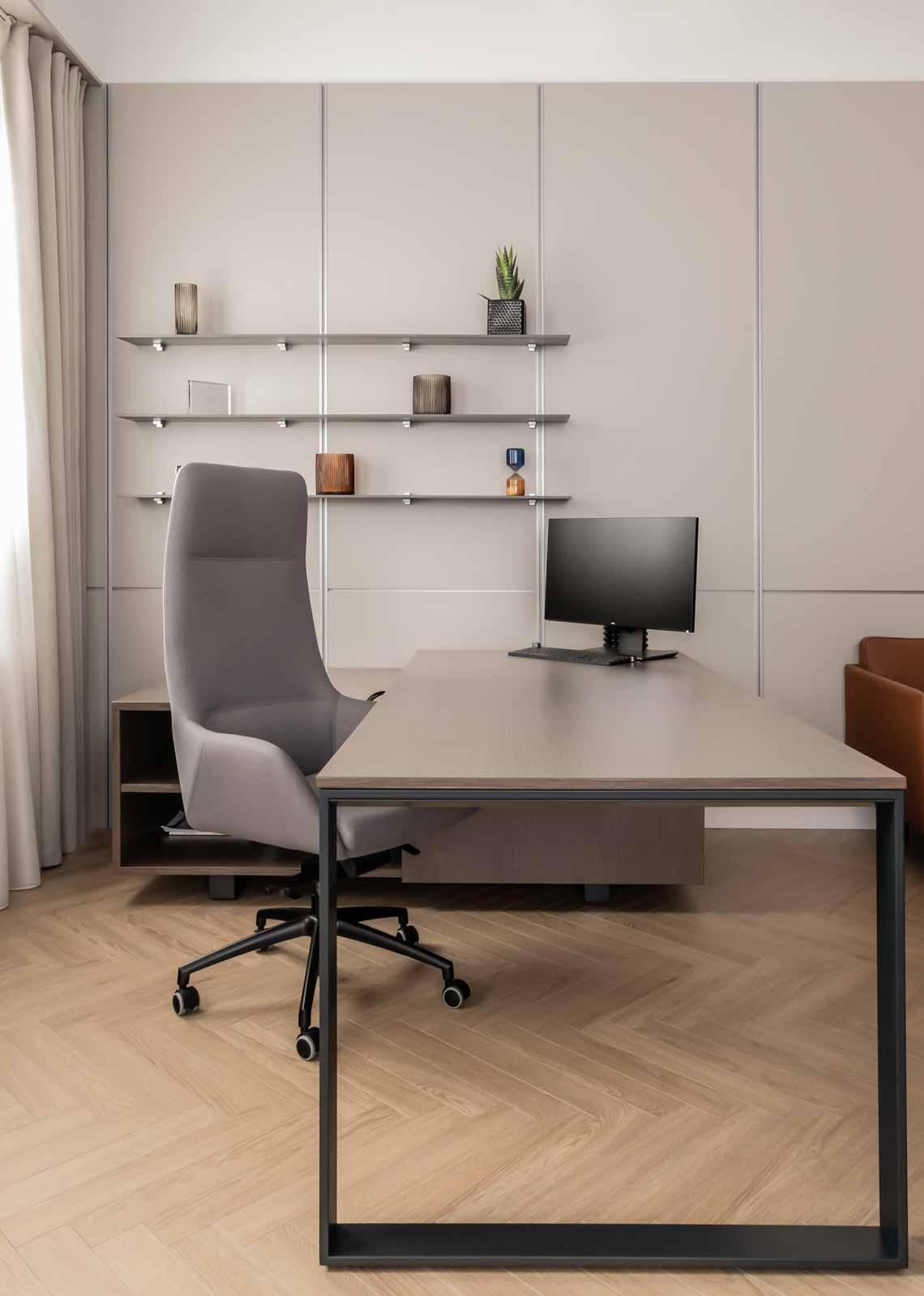Dự án FG OFF – Một văn phòng không gian hình học màu cam -34