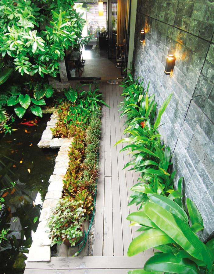 Sân vườn trong nhà phố, sự trở về của các bố trí tự nhiên, nhẹ nhàng, giảm thiểu trang trí cầu kỳ