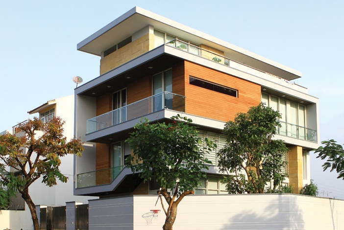 Phối màu tương sinh Thổ - Kim có thể dùng cho cả nhà hiện đại lẫn kiểu cổ điển nhẹ nhàng