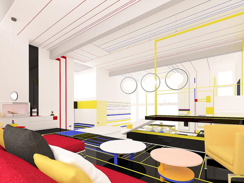 Chiêm ngưỡng căn hộ màu sắc cảm hứng từ tác phẩm của họa sĩ Piet Mondrian-1