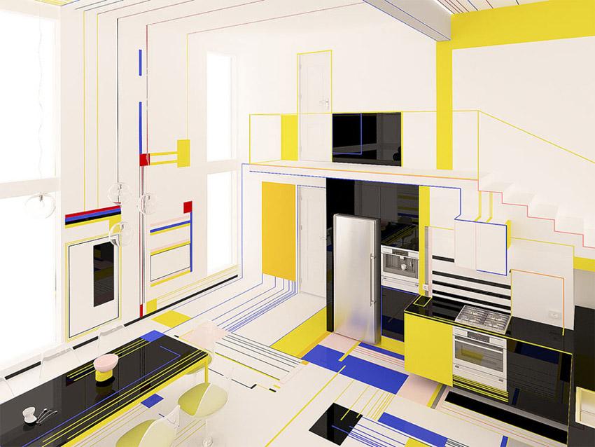 Chiêm ngưỡng căn hộ màu sắc cảm hứng từ tác phẩm của họa sĩ Piet Mondrian-11
