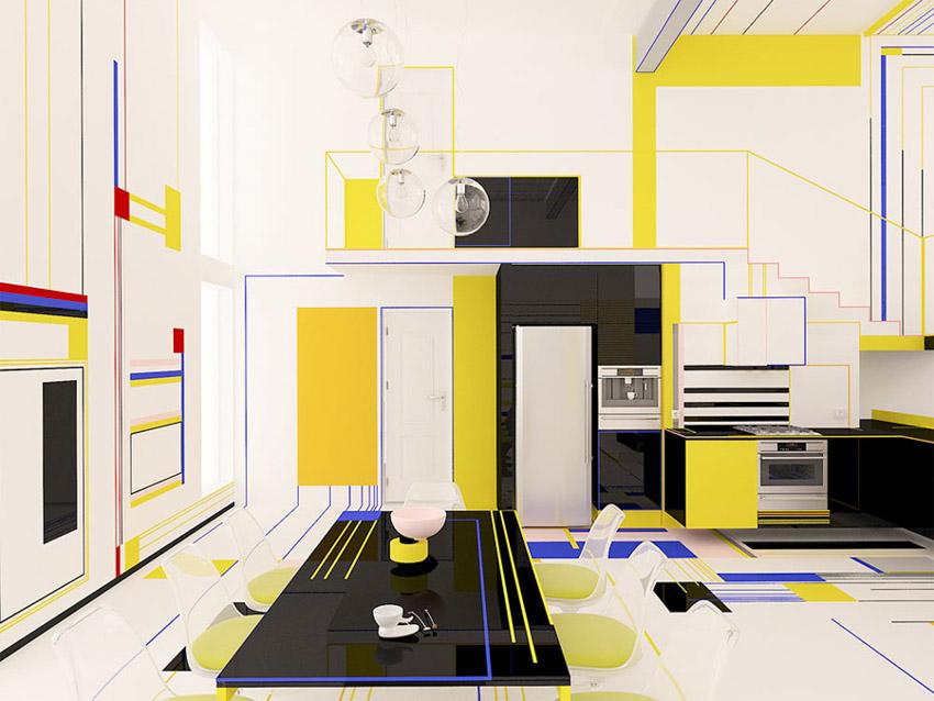 Chiêm ngưỡng căn hộ màu sắc cảm hứng từ tác phẩm của họa sĩ Piet Mondrian-3
