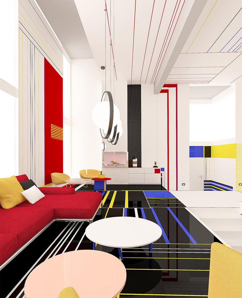 Chiêm ngưỡng căn hộ màu sắc cảm hứng từ tác phẩm của họa sĩ Piet Mondrian-6