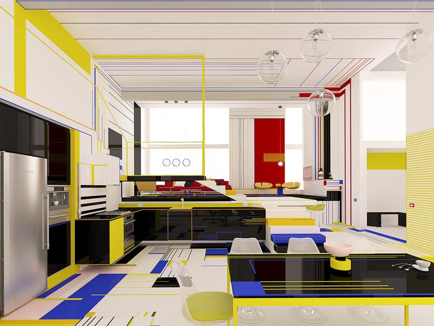 Chiêm ngưỡng căn hộ màu sắc cảm hứng từ tác phẩm của họa sĩ Piet Mondrian-8