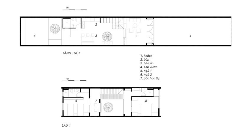 Những cung bậc cảm xúc không gian ngôi nhà gạch có hai mái hiên - 22