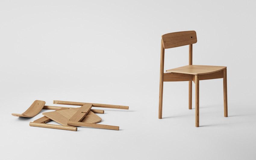 Chiếc ghế đan chéo độc đáo có thể dễ dàng tháo lắp, sửa chữa và tái chế-2