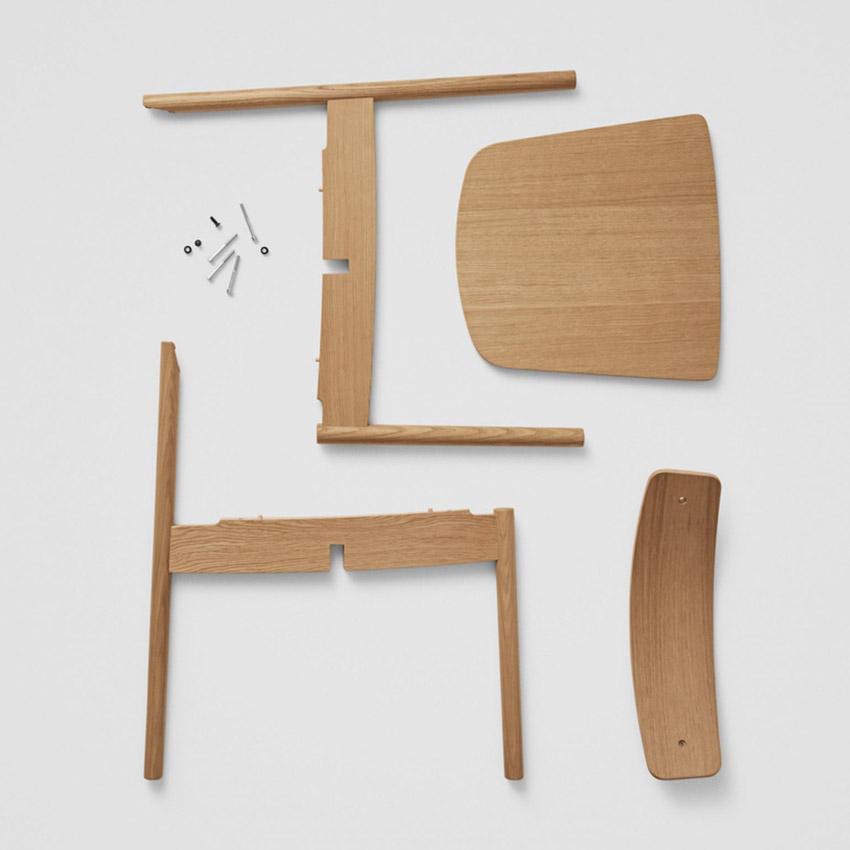 Chiếc ghế đan chéo độc đáo có thể dễ dàng tháo lắp, sửa chữa và tái chế-4