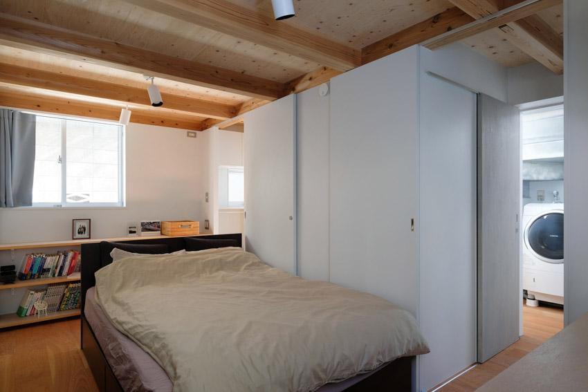 Phòng ngủ ở tầng trệt trong ngôi nhà Nhật Bản