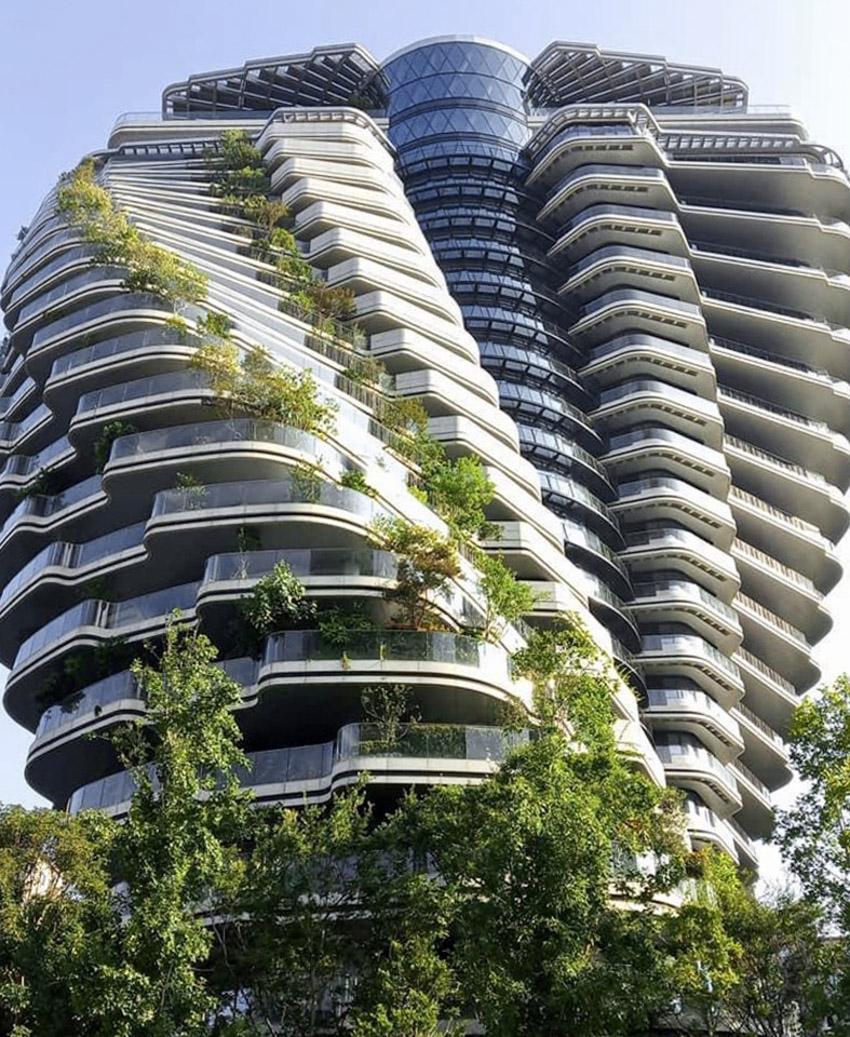 Tòa nhà tháp xoắn chứa hàng chục ngàn cây xanh ở Đài Bắc-15
