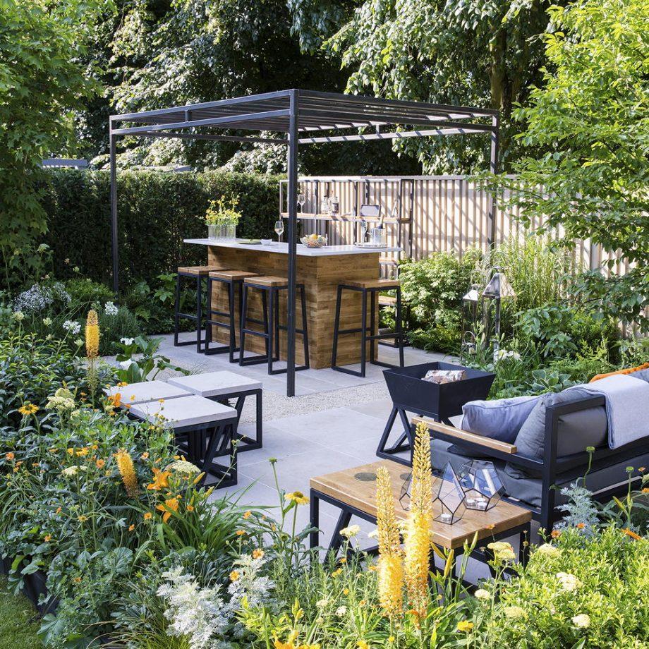 Những ý tưởng Quầy bar sân vườn ngoài trời – 05