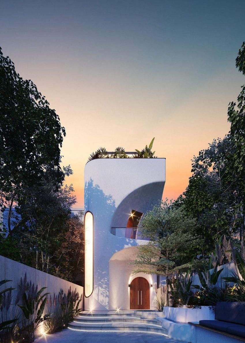 Căn nhà đẹp như mơ 345m2 thiết kế không gian mở, đón thiên nhiên vào nhà - 1