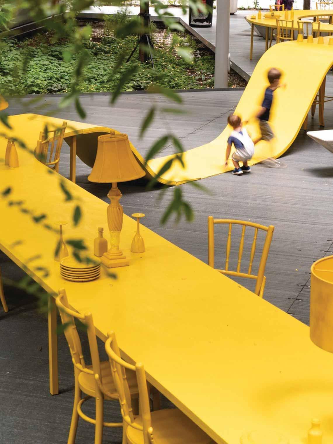 Màu của năm 2021 Pantone: Vàng và xám trong kiến trúc - 2