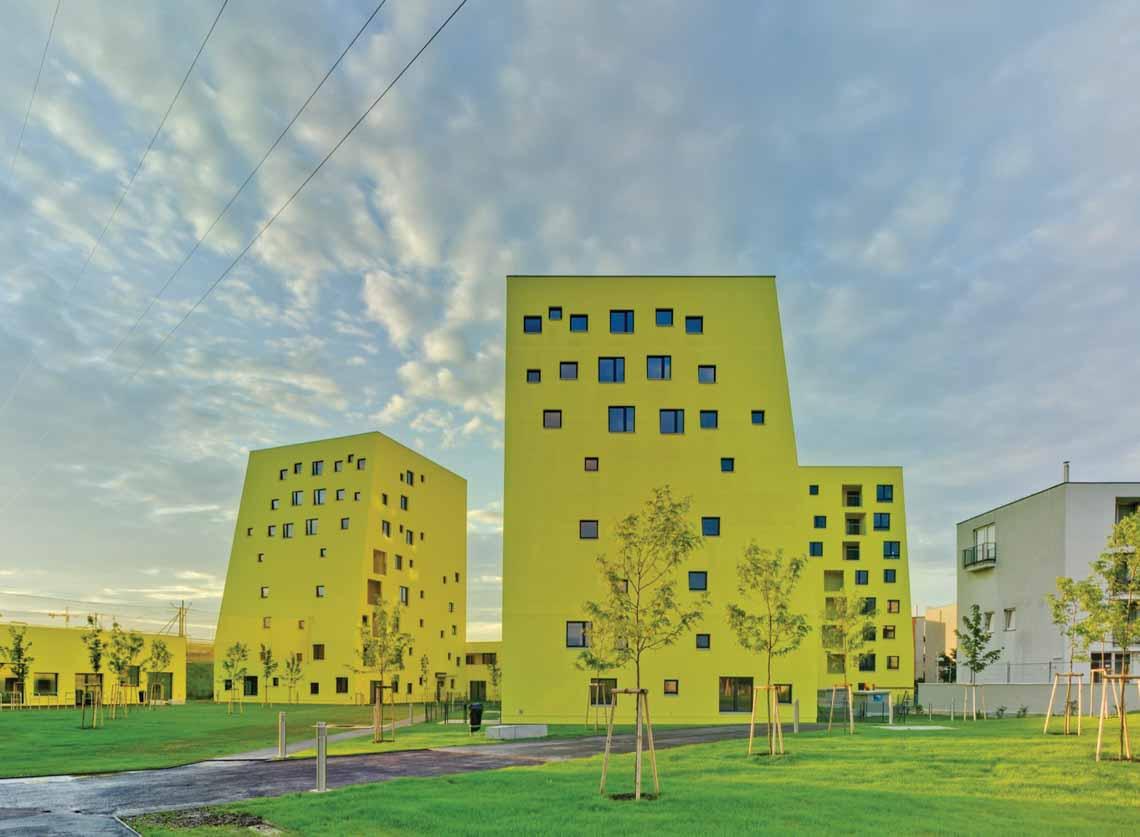 Màu của năm 2021 Pantone: Vàng và xám trong kiến trúc - 48