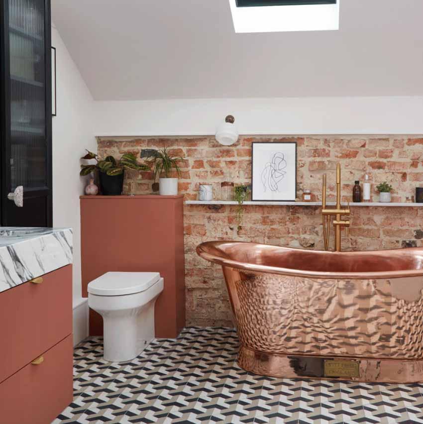 5 ý tưởng phối màu phòng tắm để không gian thư giãn đẹp rạng ngời - 5