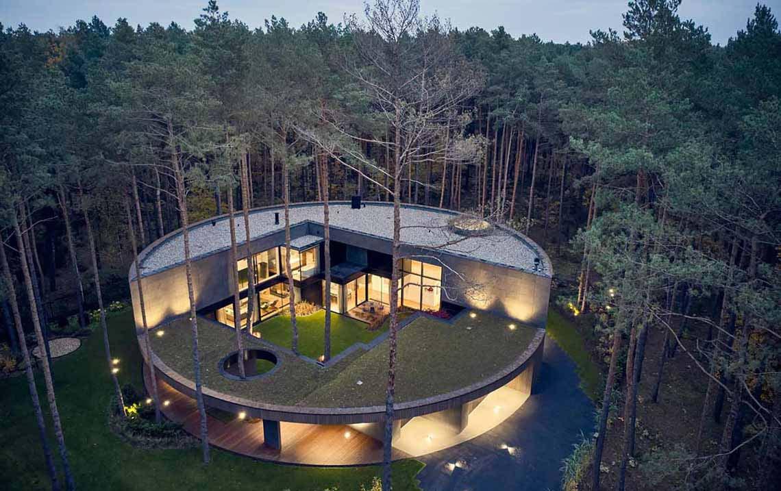 Ngôi nhà thiết kế hình tròn cho một chủ nhân yêu nghệ thuật và thiên nhiên - 8