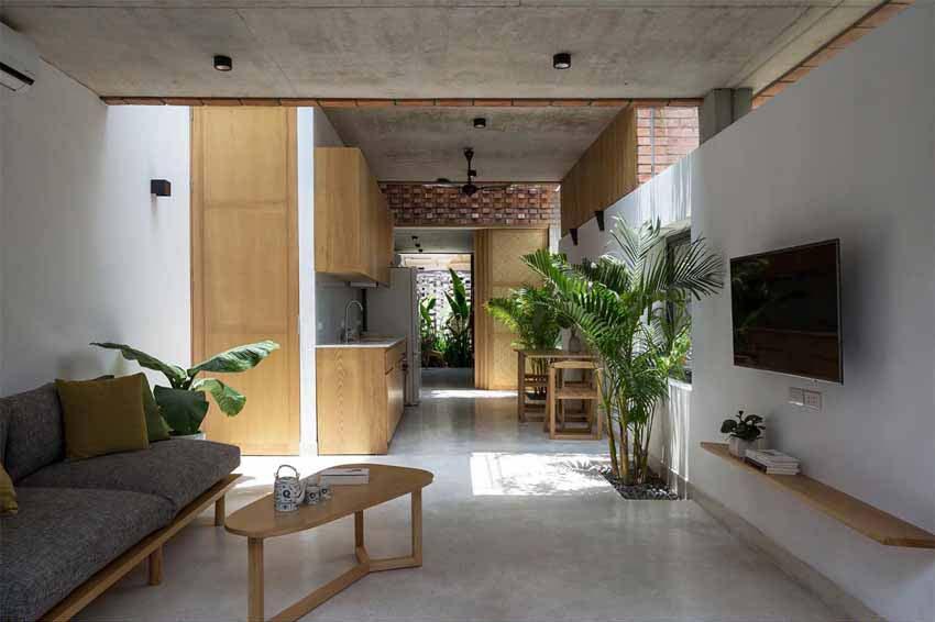 Ngôi nhà ở Hà Nội với không gian ngoài trời trên sân thượng - 3