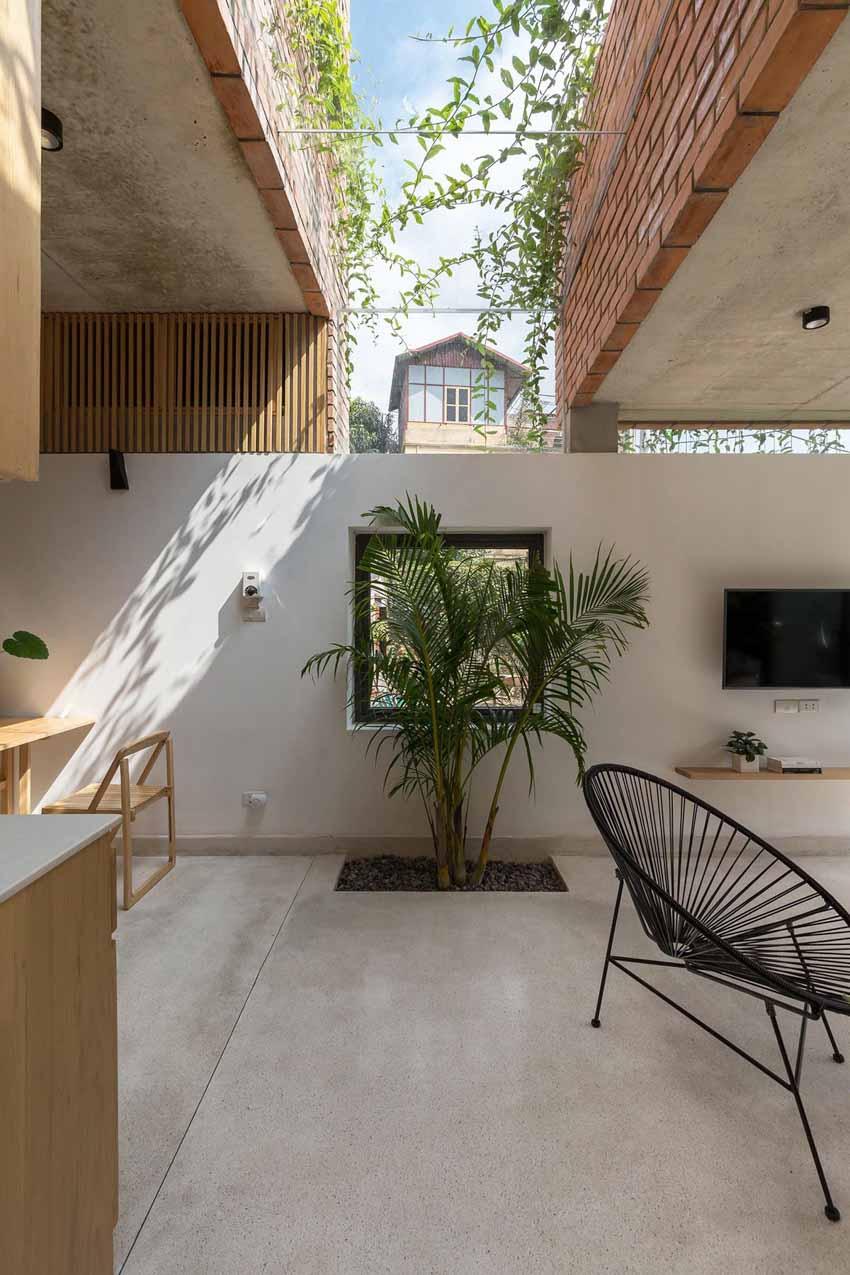 Ngôi nhà ở Hà Nội với không gian ngoài trời trên sân thượng - 5