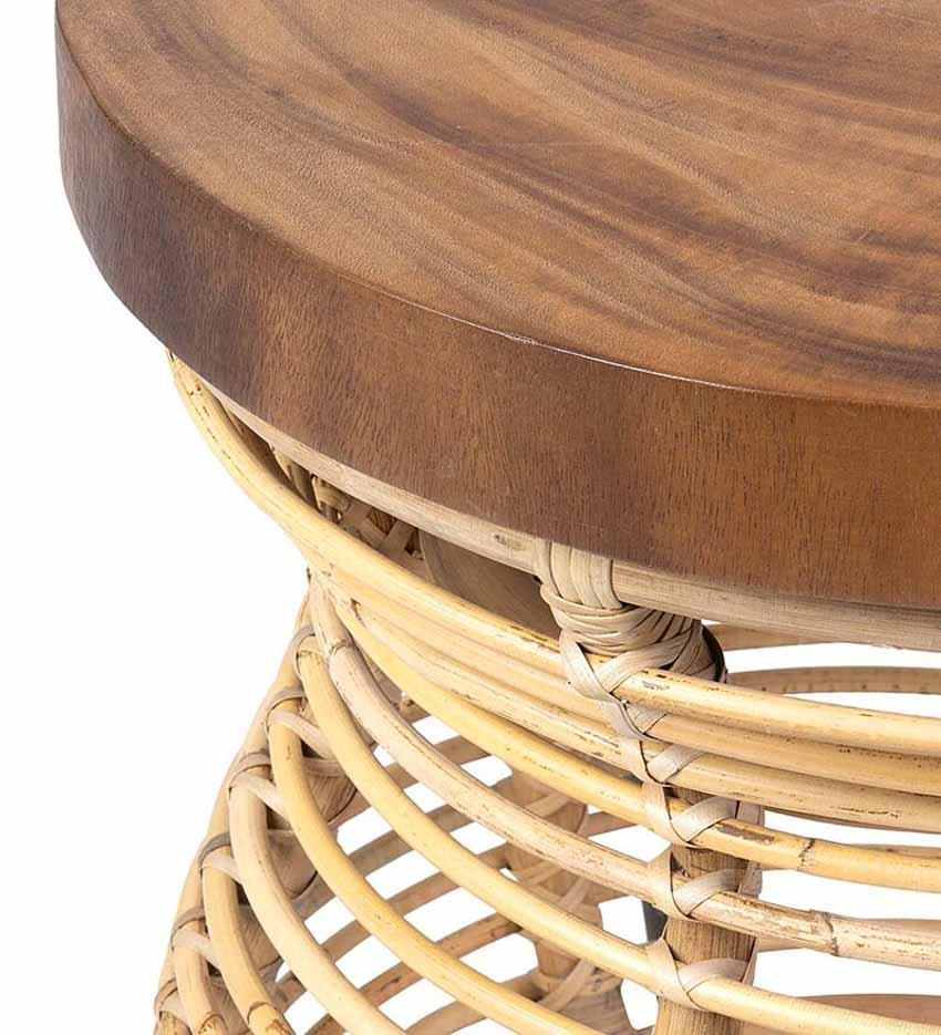 Chiếc bàn nhỏ kết hợp mây và gỗ - 3
