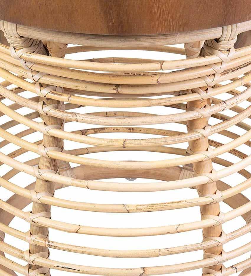 Chiếc bàn nhỏ kết hợp mây và gỗ - 5