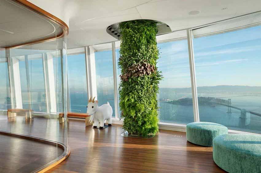 Khu vườn xanh quyến rũ trên những chiếc cột của tòa nhà văn phòng - 3