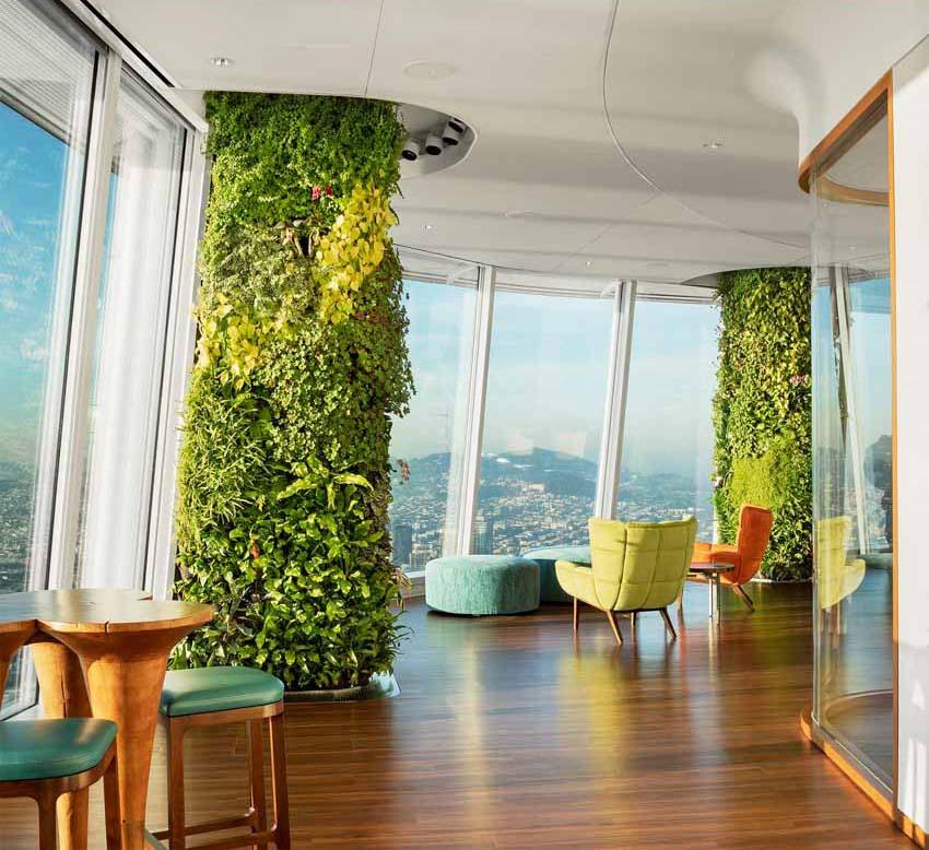 Khu vườn xanh quyến rũ trên những chiếc cột của tòa nhà văn phòng - 5