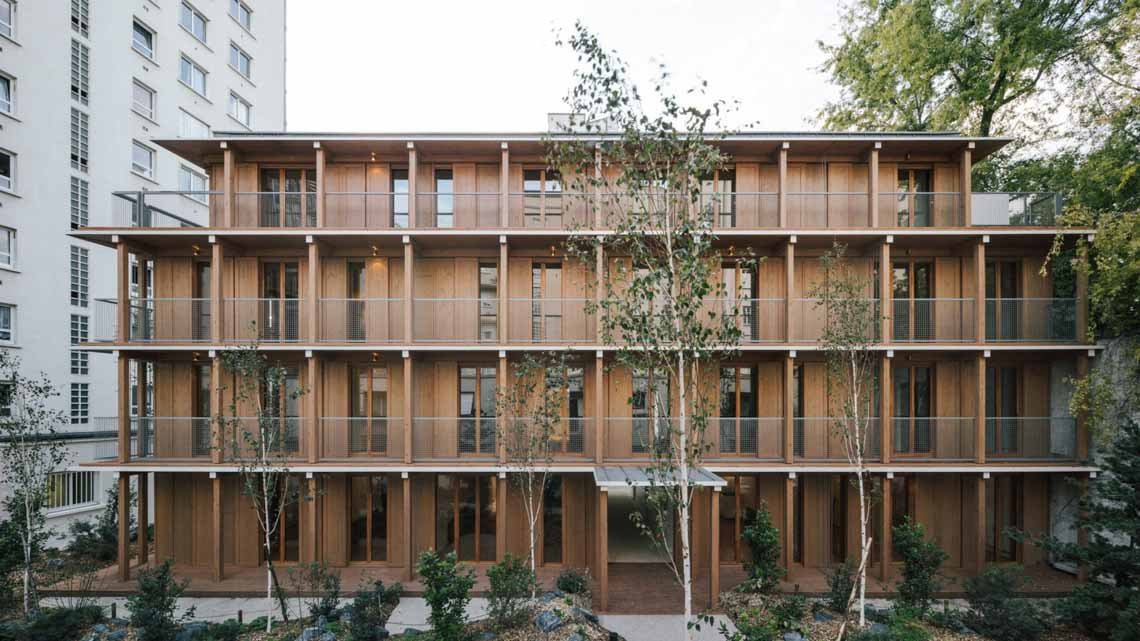 Tòa nhà căn hộ bằng gỗ với thiết kế mang phong cách Nhật Bản - 1