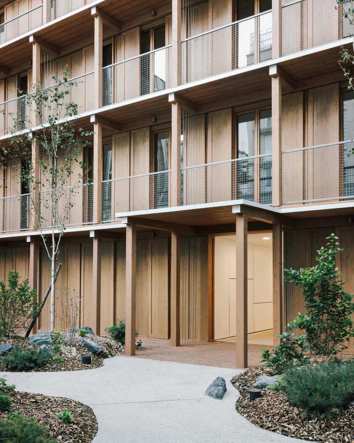 Tòa nhà căn hộ bằng gỗ với thiết kế mang phong cách Nhật Bản - 4