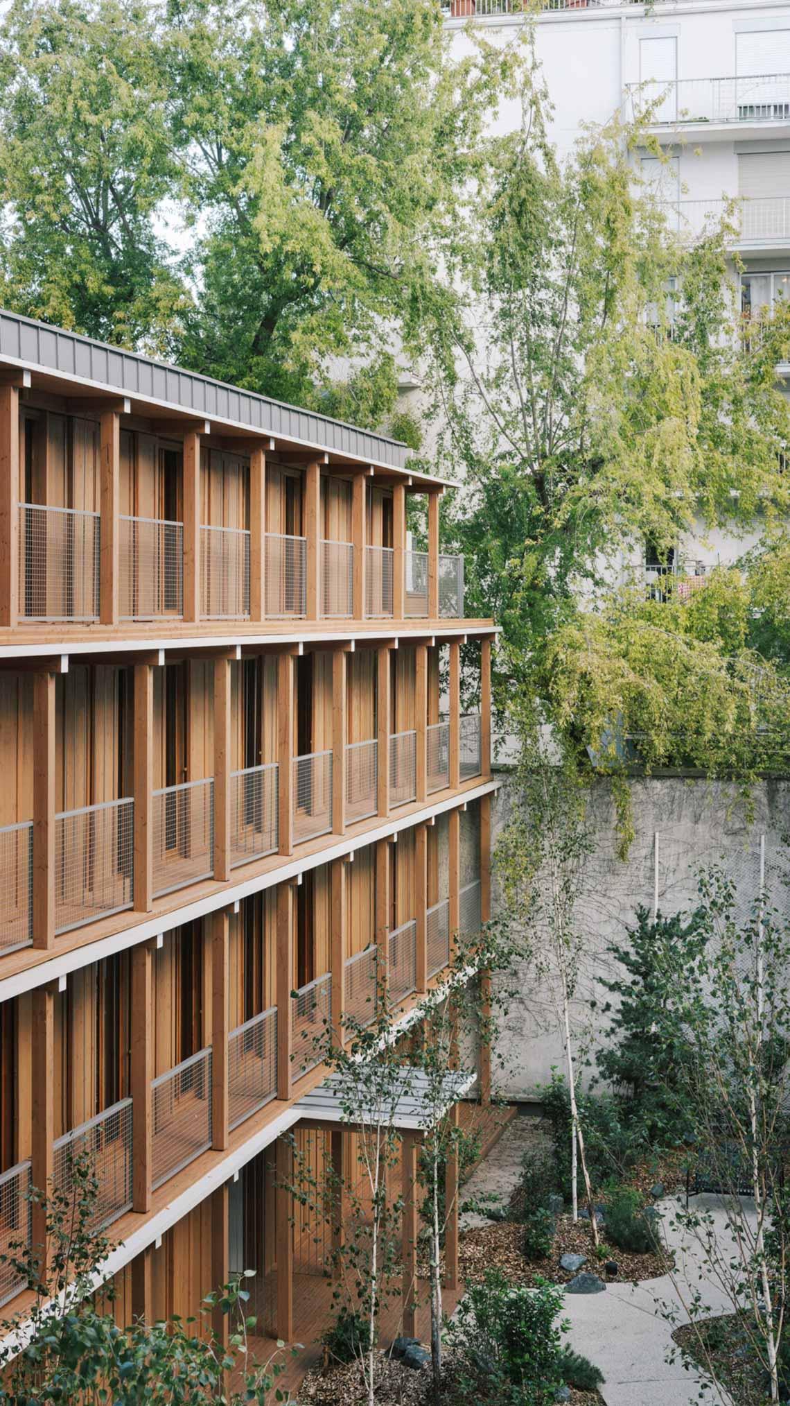 Tòa nhà căn hộ bằng gỗ với thiết kế mang phong cách Nhật Bản - 6