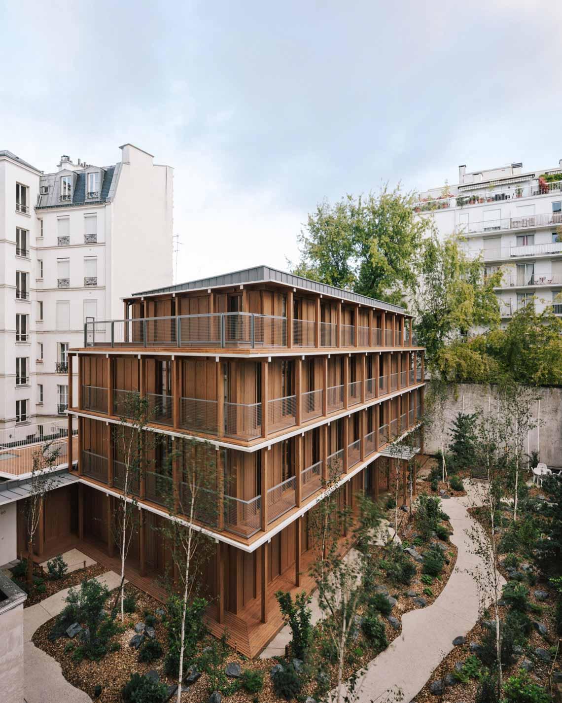 Tòa nhà căn hộ bằng gỗ với thiết kế mang phong cách Nhật Bản - 15