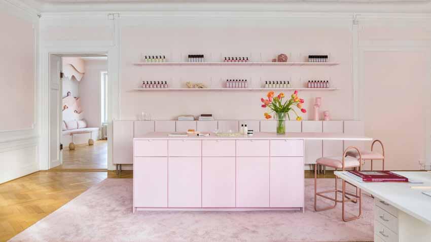 Màu pastel tạo nét độc đáo cho hair salon của thương hiệu Thụy Điển - 1