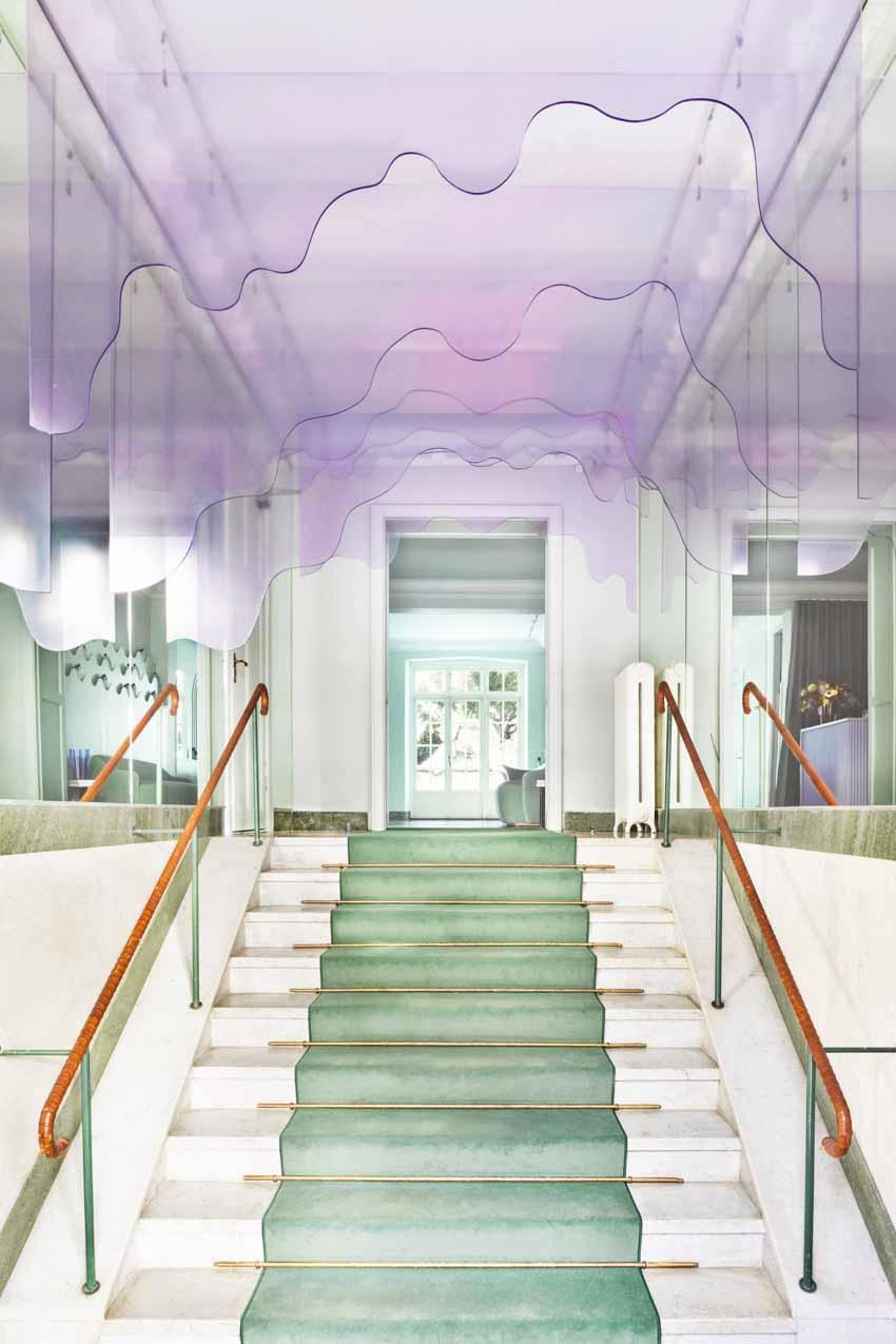 Màu pastel tạo nét độc đáo cho hair salon của thương hiệu Thụy Điển - 2