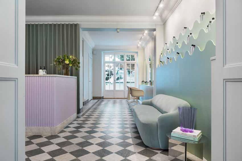 Màu pastel tạo nét độc đáo cho hair salon của thương hiệu Thụy Điển - 3