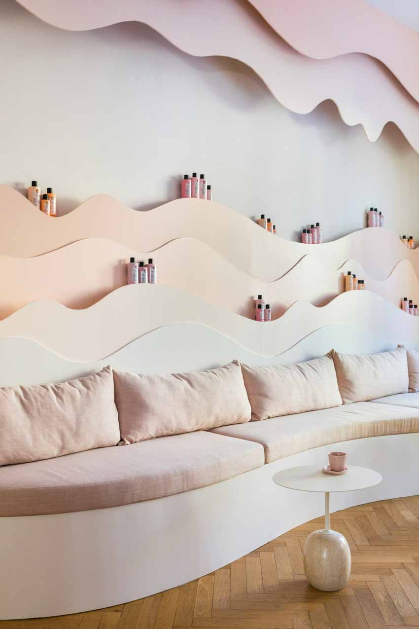 Màu pastel tạo nét độc đáo cho hair salon của thương hiệu Thụy Điển - 5