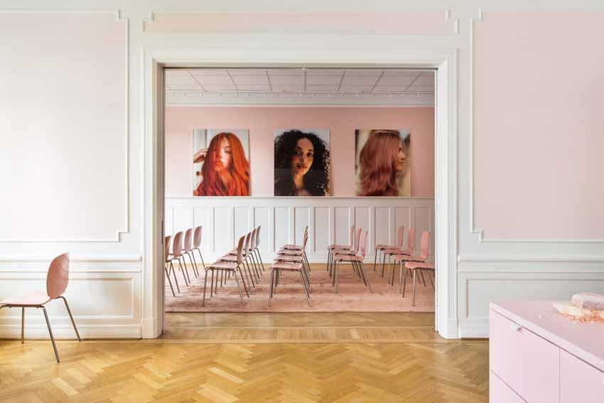 Màu pastel tạo nét độc đáo cho hair salon của thương hiệu Thụy Điển - 14