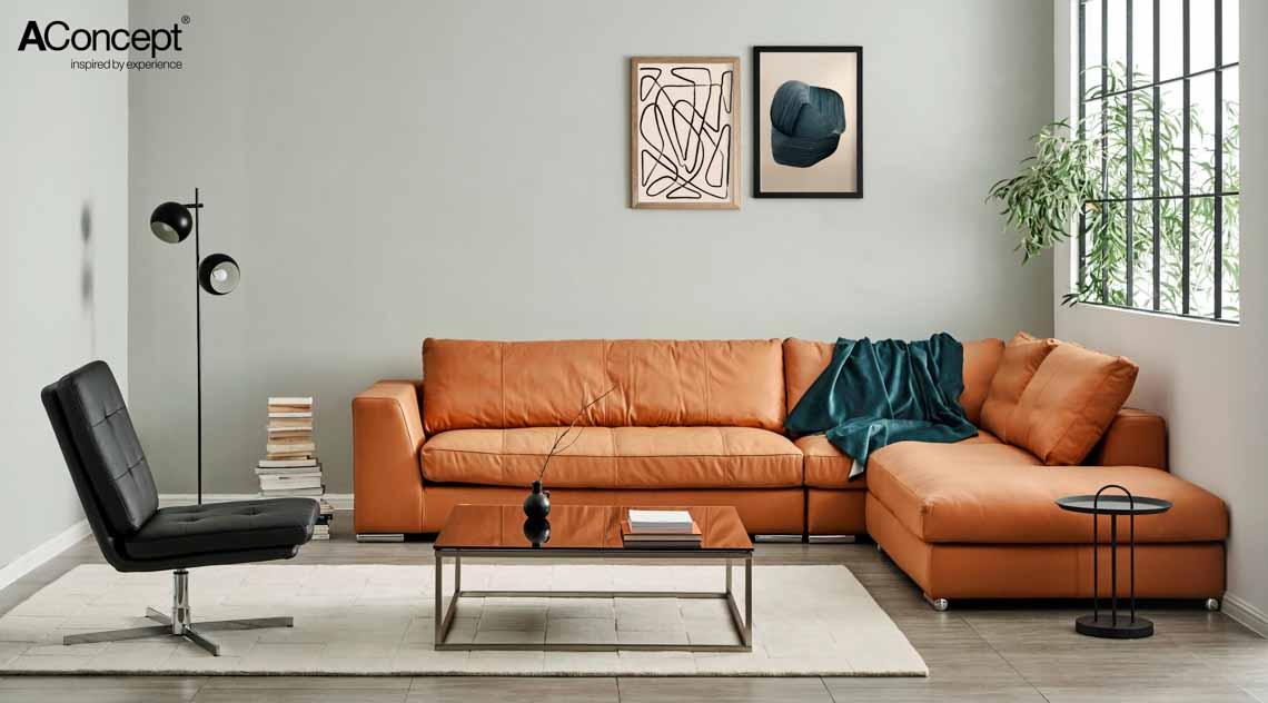 Sofa da và bàn cafe – Sự kết hợp tinh tế tôn vinh phòng khách - 1