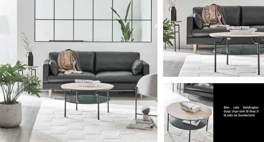 Sofa da và bàn cafe – Sự kết hợp tinh tế tôn vinh phòng khách - 4