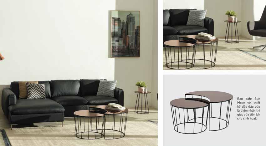 Sofa da và bàn cafe – Sự kết hợp tinh tế tôn vinh phòng khách - 5