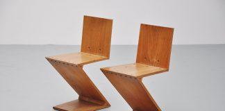 Chaise Rietveld 280 Zig Zag Chair by Gerrit Thomas Rietveld