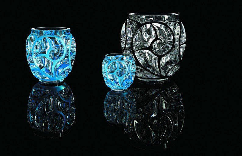 Composition 3 vases Tourbillons