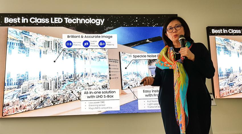 Bà Hyesung Ha, Phó Chủ tịch Cấp Cao Công ty Samsung Điện tử, Bộ phận Màn hình chuyên dụng.