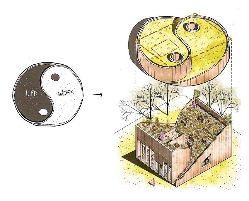 Ngôi nhà âm dương: Trộn vườn lên mái
