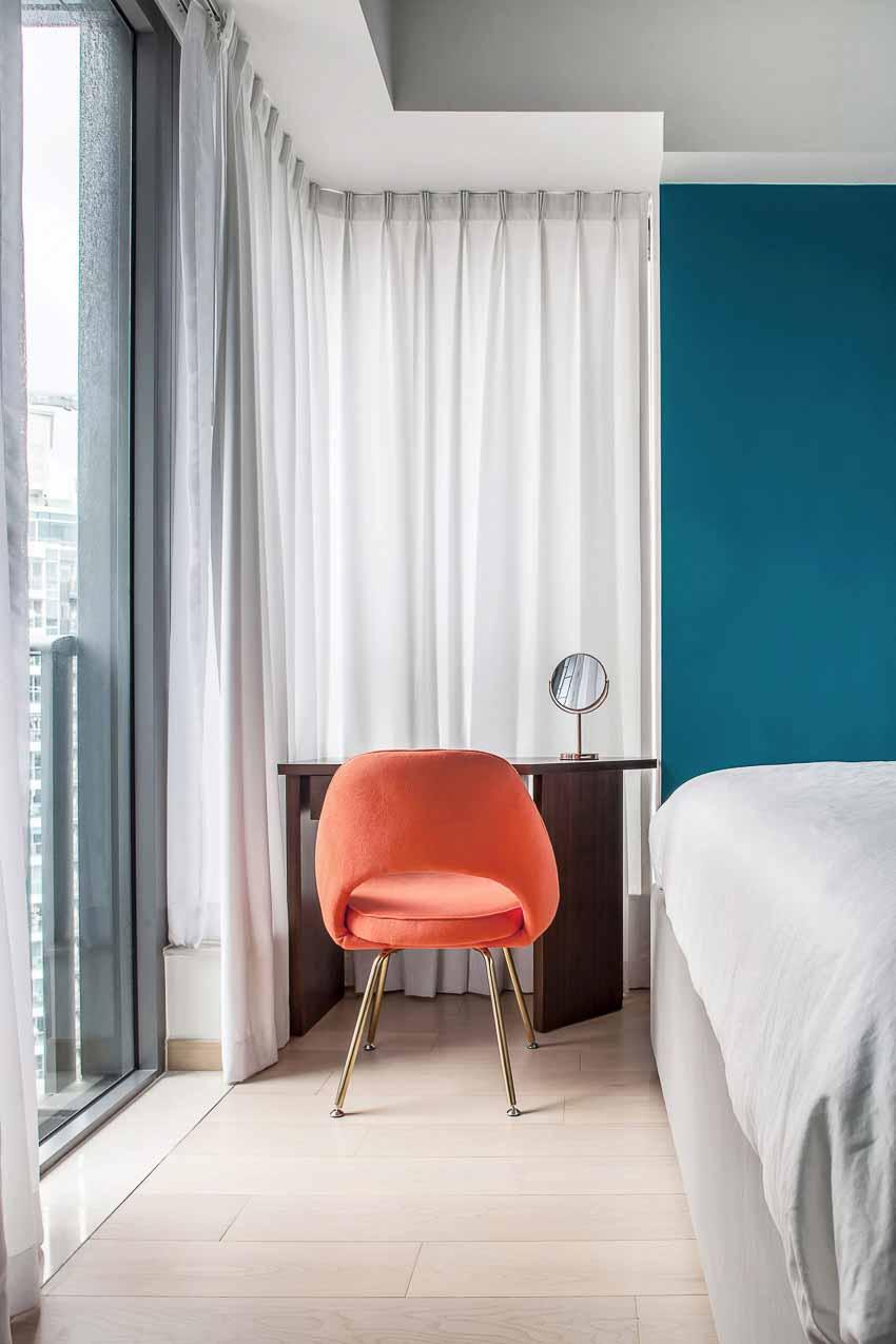 Màu sắc và chất liệu tạo nên sự cân bằng tinh tế cho căn hộ 46m2