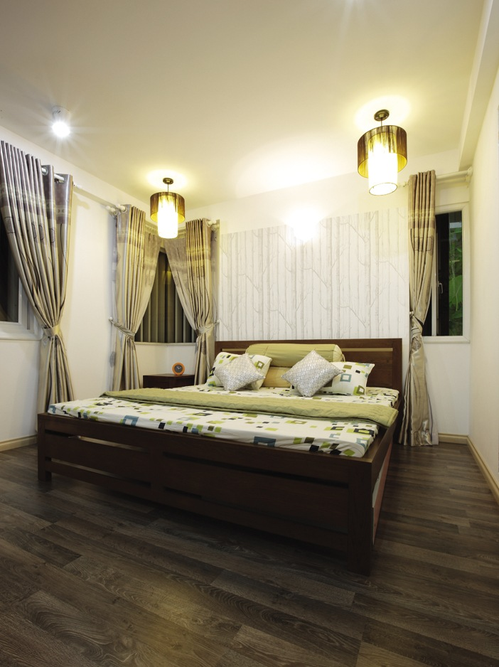 Đèn phân bố trong phòng ngủ cần căn cứ theo phương vị chung quanh giường và phong cách nội thất phòng ngủ