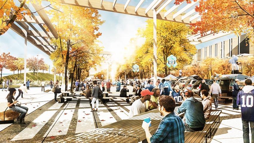 Thiết lập không gian cộng đồng ven sông Detroit