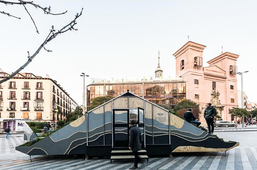 Độc đáo văn phòng di động ở Madrid