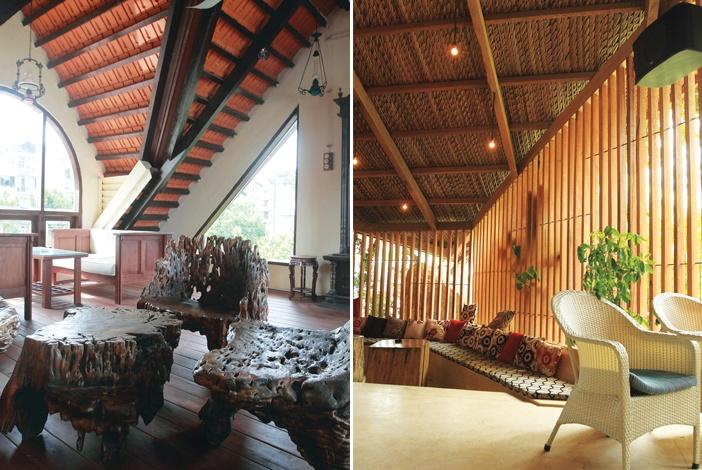 Cấu trúc mái hiên truyền thống vươn rộng giúp tạo khoảng đệm cân bằng về không gian