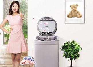 Thiết kế lồng giặt Eco Drum không lỗ của Sharp