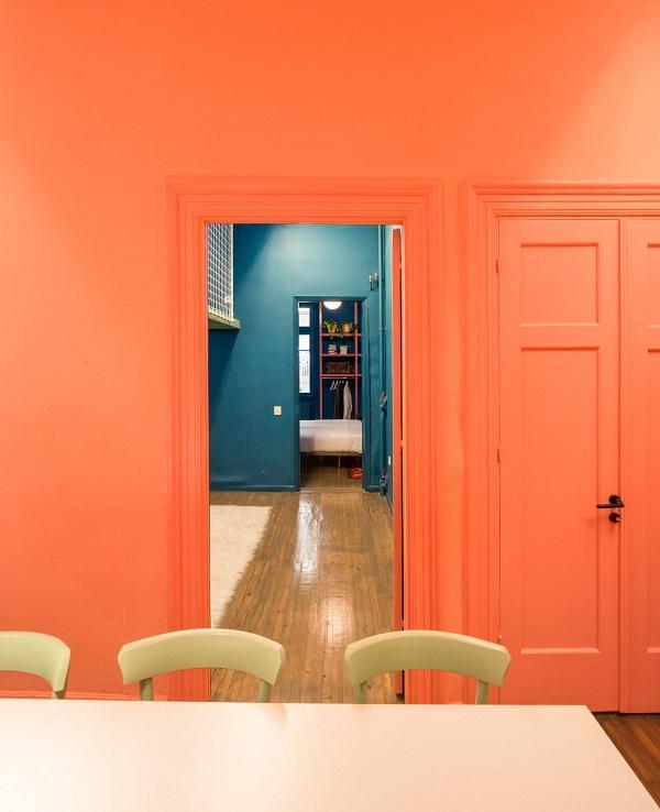 5 mẫu thiết kế nội thất sử dụng màu cam san hô - 5