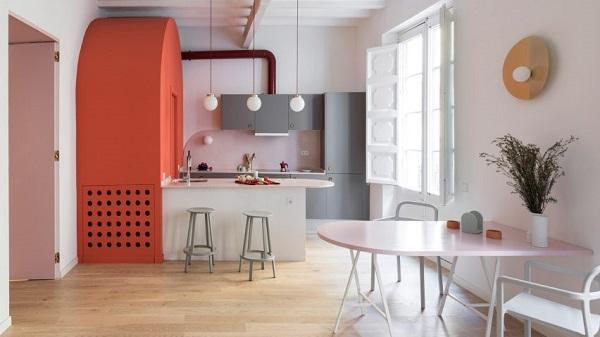5 mẫu thiết kế nội thất sử dụng màu cam san hô - 10