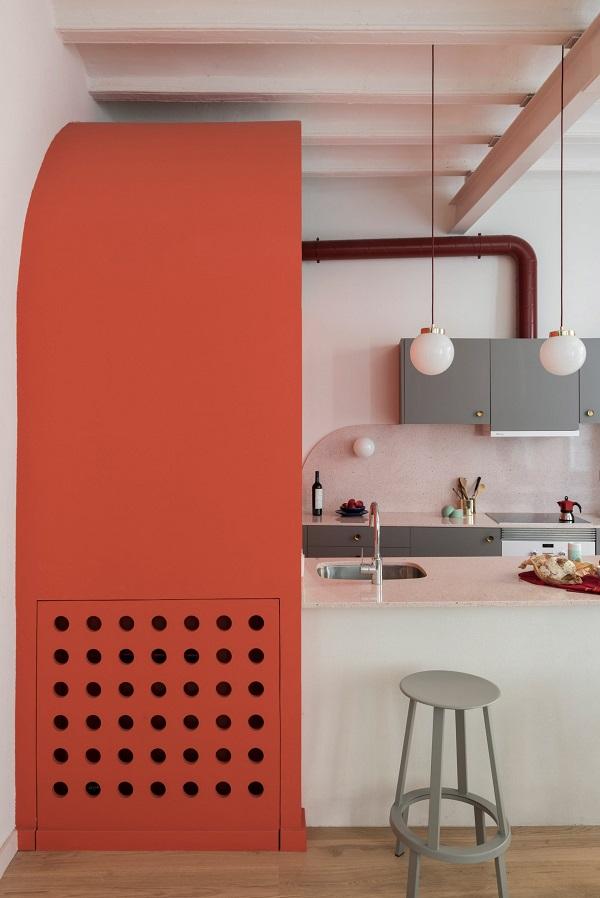 5 mẫu thiết kế nội thất sử dụng màu cam san hô - 12